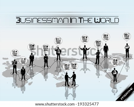 Businessman Concept Business World - stock vector