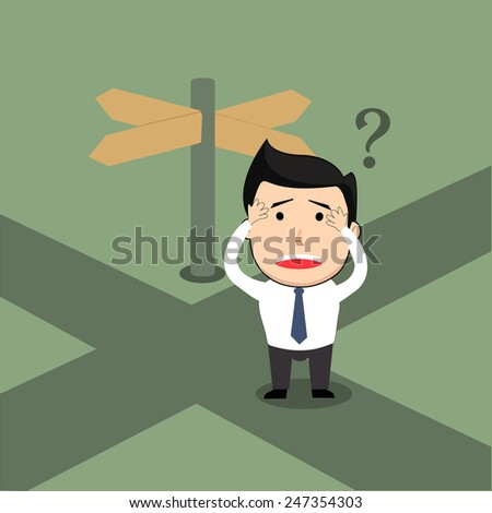 businessman concept (confuse) - stock vector