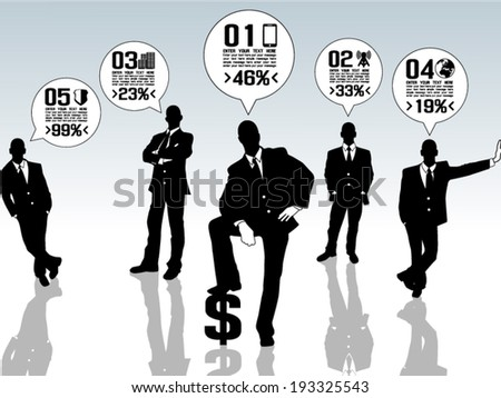 Businessman Concept Options - stock vector