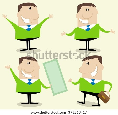 Businessman counselor cartoon character - stock vector