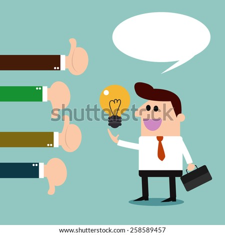 Businessman feedback. Like and dislike. -illustration Vector - stock vector
