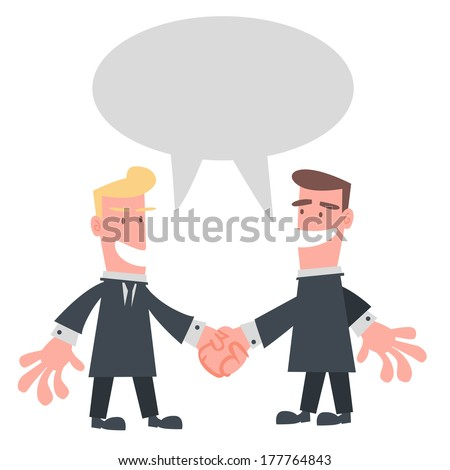 Businessman Hand Shaking - stock vector