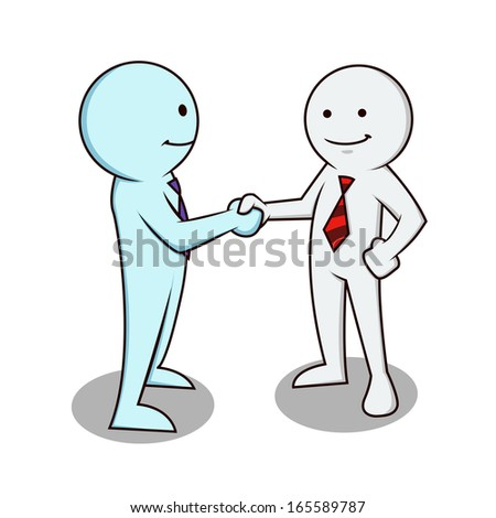 businessman icon shake hand - stock vector