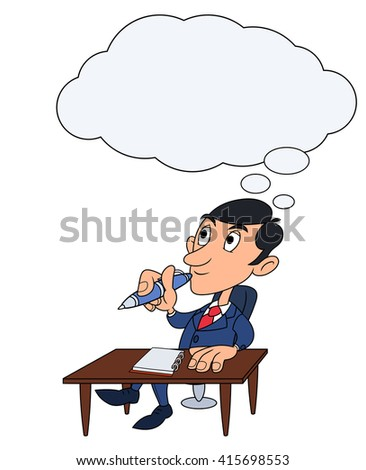 Businessman is thinking 4 - stock vector