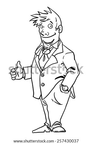 Businessman isolated on white background. Vector illustration. - stock vector