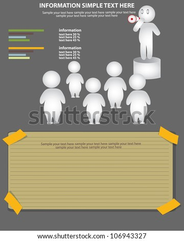 Businessman & Loudhailer,Vector - stock vector