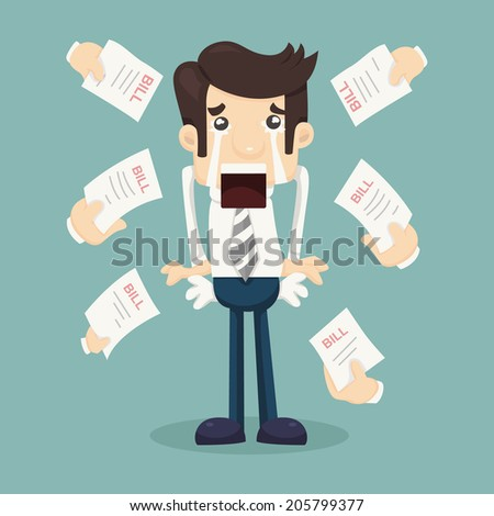 Businessman no money , eps10 vector format - stock vector