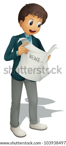 Businessman on a white background - stock vector