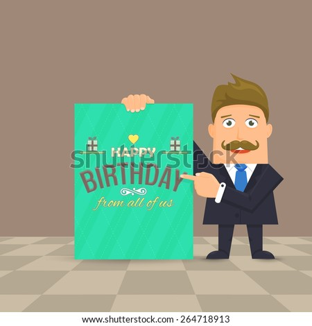 Happy Birthday Businessman Businessman Presentation Happy