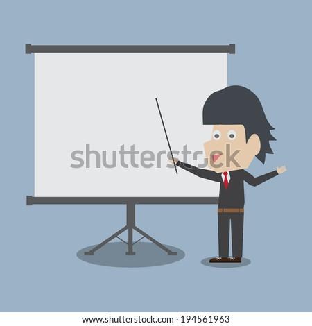 businessman presenting - stock vector