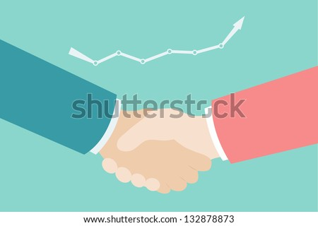 businessman's hand shaking - stock vector