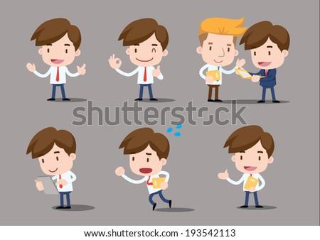 Businessman series - salary man - stock vector