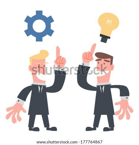 Businessman Showing Idea - stock vector