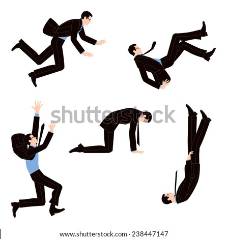 Businessman stumbling and despair - stock vector