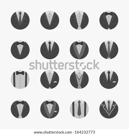 Businessman Suit Icons with White Background , eps10 vector format - stock vector
