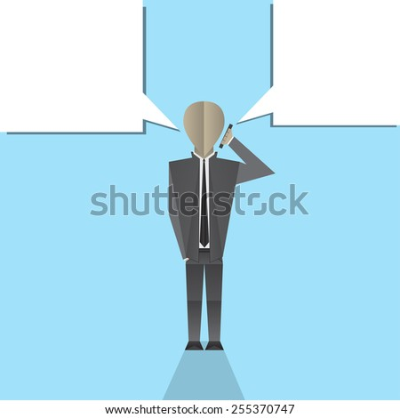 Businessman talking on the phone. - stock vector