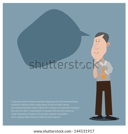 Businessman thinking - stock vector