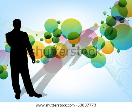 Businessman Thinking - stock vector