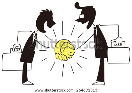 Businessman to shake hands strong - stock vector