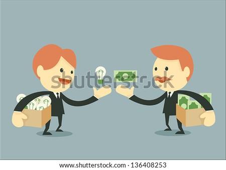 Businessman Trading - stock vector