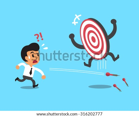 Businessman try to hit a target - stock vector