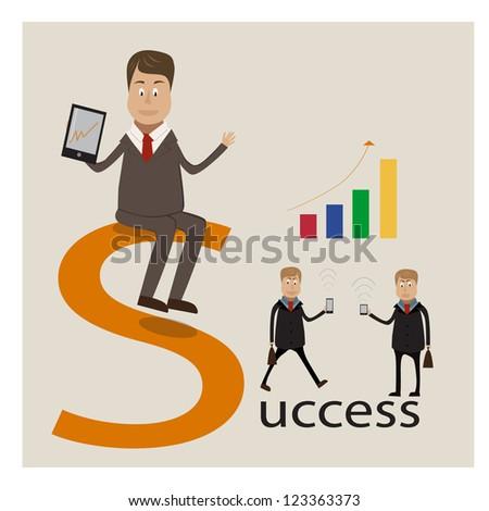 Businessman (vector) - stock vector