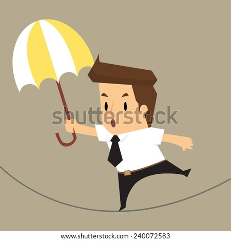 businessman walking risk.vector - stock vector