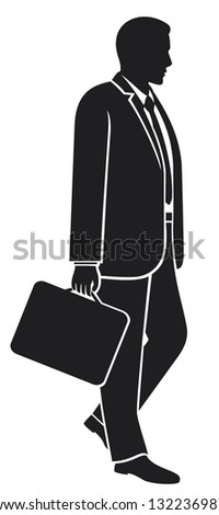 Business Briefcase Man Silhouette Stock Photos, Images ...