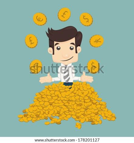 Businessman wealth , eps10 vector format - stock vector