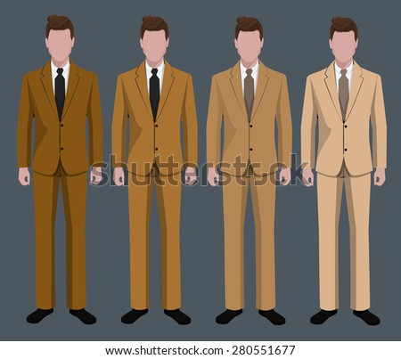 Businessman wearing suits. - stock vector