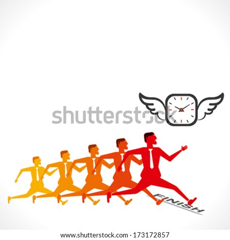 businessmen competition vector - stock vector