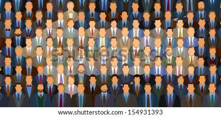 Businessmen In Shape Of An Arrow - stock vector
