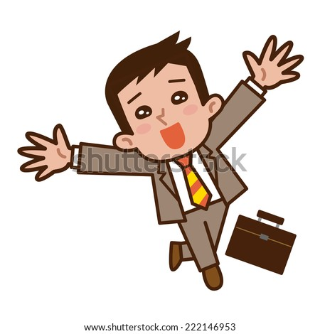 Businessmen rejoice - stock vector