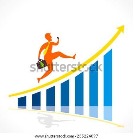 businessmen running , move to top business growth concept vector - stock vector