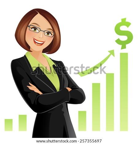 Businesswoman - stock vector