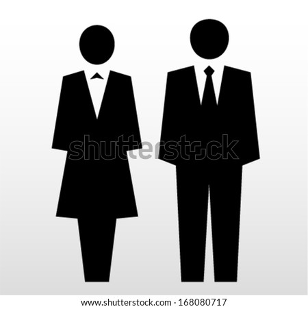 Businesswoman and businessman icon - stock vector