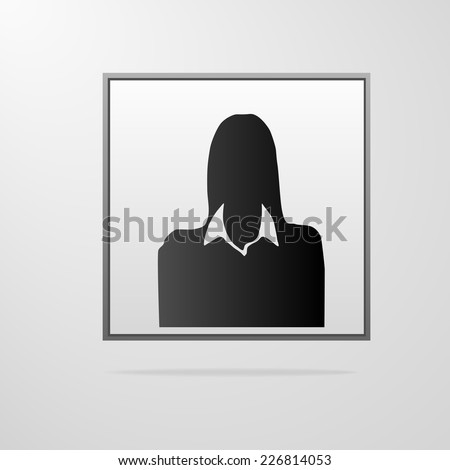 Avatar profile picture black woman vector illustration stock vector