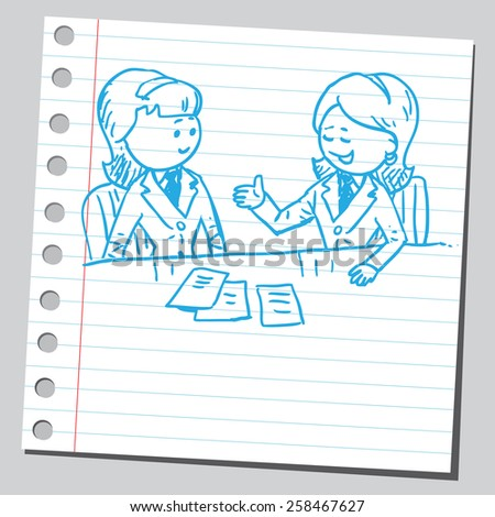 Businesswomen consulting - stock vector