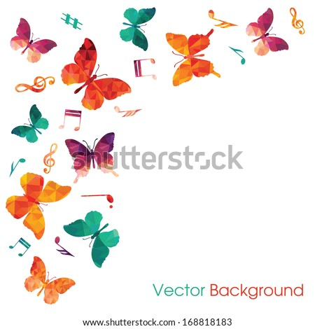 Butterflies background - stock vector