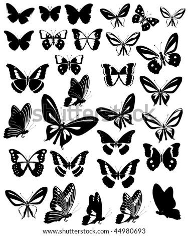 Butterflies Party - stock vector