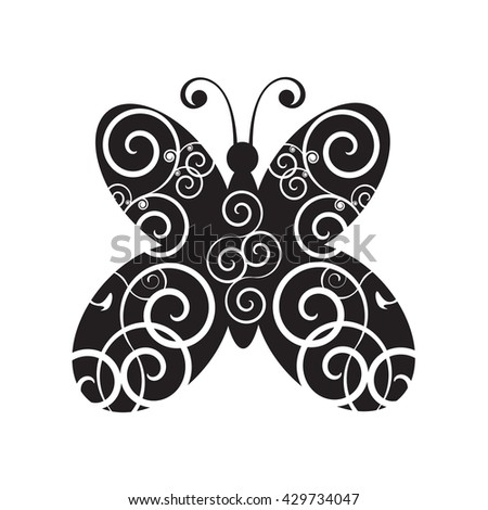butterfly, butterfly tattoo, butterfly drawing, butterfly vector, butterfly art, butterfly silhouette, butterfly design, butterfly icon, butterfly print, butterfly isolated - stock vector