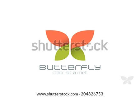 Butterfly Fashion vector logo design template. Insect.  Creative Beauty Spa Cosmetics icon. - stock vector