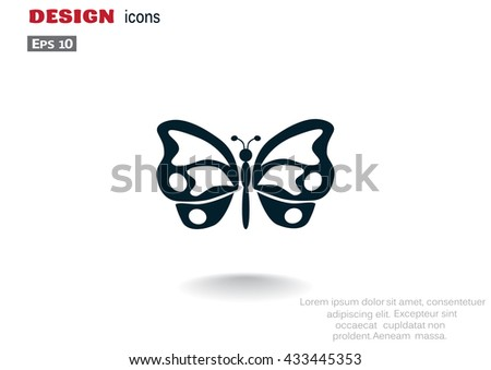 Butterfly icon. Butterfly icon Vector. Butterfly icon Art. Butterfly icon eps. Butterfly icon. Butterfly icon logo. Butterfly icon Sign. Butterfly icon Flat. Butterfly icon design. Butterfly icon app - stock vector