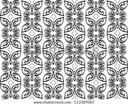Butterfly seamless pattern background for wallpaper design. Jpeg version also available in gallery - stock vector
