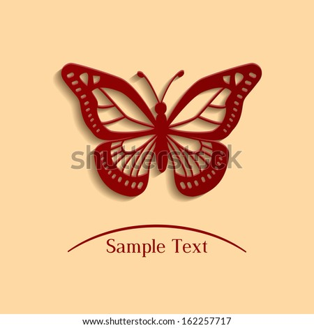 butterfly - vector illustration  - stock vector