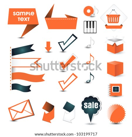button for your site - stock vector