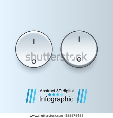 Button icon. Switch icon. - stock vector