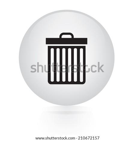 button web icon - stock vector