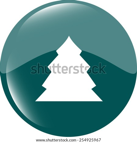 button with christmas tree on it - stock vector