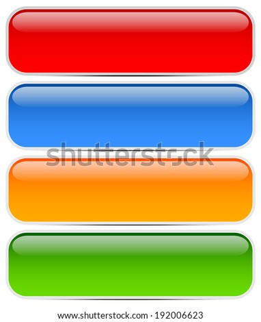 Buttons, bars, banners - stock vector